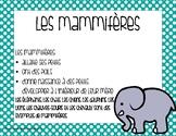 Affiches - Les classements des animaux. Types of Animals P