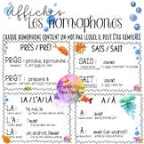Affiches - Les homophones (avec exemples)