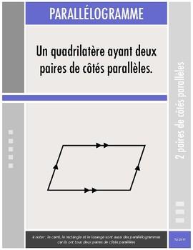 Affiches - Les quadrilatères