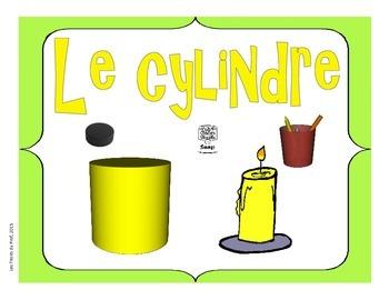 Affiches Les solides 3D cube, sphère, pyramide, cône, prisme, cylindre, cube