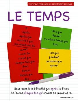 Affiches - Mots pour introduire des compléments de phrase
