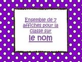 Affiches - Nom - Grammaire française