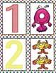 French Number Posters and Memory Game (1-10) -Monster Theme- Affiches Numérotés