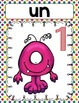 French Number Posters and Memory Game (1-10) -Monster Them