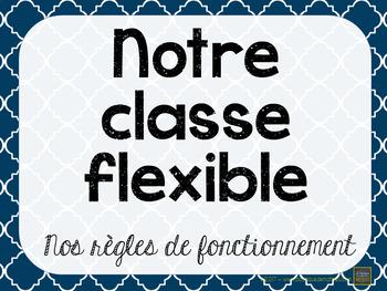 Affiches – Règles – Classe flexible – Flexible Seating – Éditable
