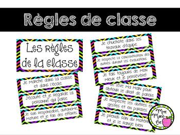 Affiches - Règles de la classe