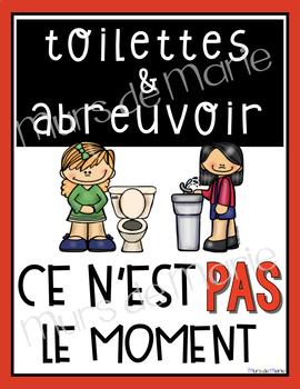 """Affiches """"Débit de voix"""" et """"toilettes-abreuvoir"""""""