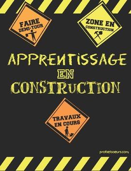 Affiches: Zone de construction d'apprentissage
