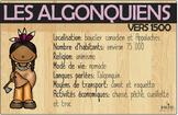 Affiches algonquiens vers 1500