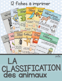 Affiches classification des animaux - French animal classification posters