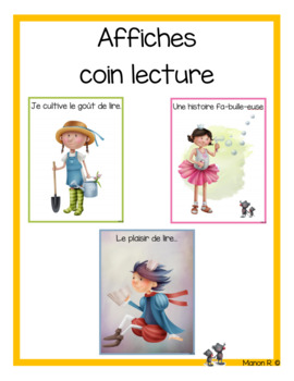 Affiches coin lecture (Reading Center Posters)