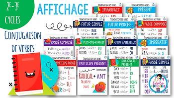 Affiches conjugaison des verbes 2e-3e cycles
