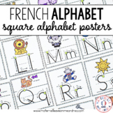 Affiches d'alphabet (FRENCH Alphabet Posters  - Square with Arrows)