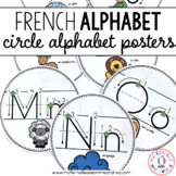 Affiches d'alphabet (FRENCH Circle Alphabet posters with arrows)