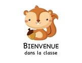Affiches de classe Animaux de la forêt / French Classroom