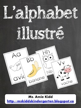 Affiches de l'alphabet francais - French Alphabet Posters for Word Wall