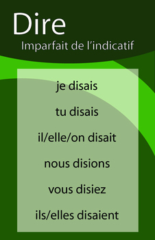 Affiches de verbe a l'IMPARFAIT