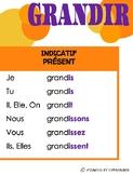 Affiches de verbes : Verbe GRANDIR