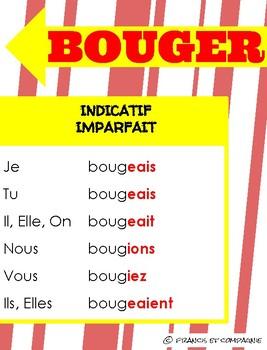 Affiches de verbes : Verbe du 1er GROUPE (BOUGER)
