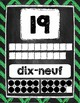 Affiches des Nombres/ French Number Posters 1-20 Chalkboard Chevron
