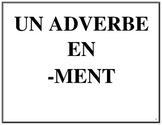 Affiches des adverbes en -ment, French Immersion