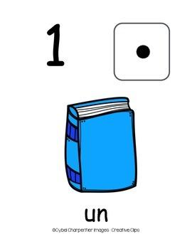 Affiches des chiffres de 1 à 10