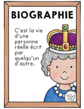 Affiches des genres littéraires