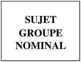 Affiches des groupes nominaux sujets, French Immersion