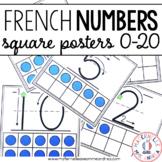 Affiches des nombres 0 à 20 (FRENCH Square Number posters 1-20)