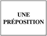 Affiches des prépositions, French Immersion