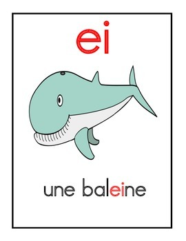 Affiches des sons communs - French Complex sound posters