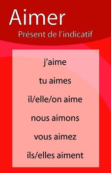 Affiches du verbe AIMER