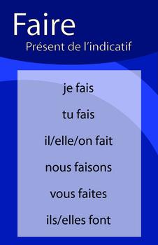 Affiches du verbe FAIRE