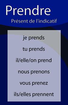 Affiches du verbe PRENDRE