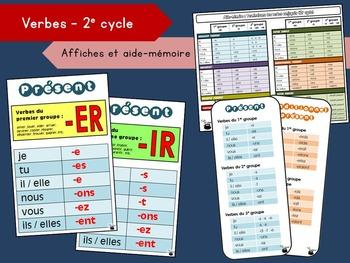 Affiches et aide-mémoire – Terminaisons des verbes (2e cyc