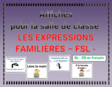 Affiches expressions familières FSL /classroom posters in French