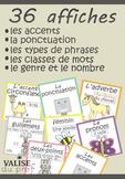Affiches français - BUNDLE - 36 affiches