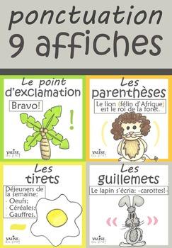 Affiches français - la ponctuation