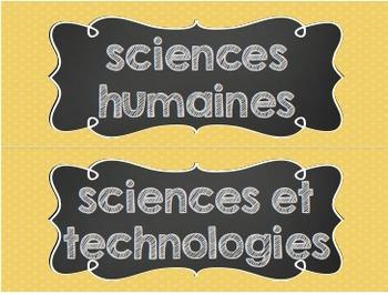 Affiches horaire de la journée / French classroom schedule
