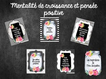 Affiches mentalité de croissance FRENCH growth mindset posters