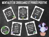 Affiches, mentalité de croissance, FRENCH posters, growth mindset
