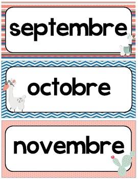 Affiches mois de l'année
