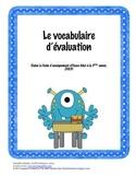 Affiches (monstres) - vocabulaire d'évaluation
