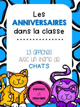 Affiches pour anniversaires - Les chats