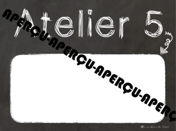 Affiches pour ateliers tableau noir craie - French Workshop Chalkboard Posters