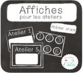 Affiches pour ateliers tableau noir craie - French Worksho