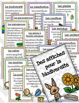 Affiches pour la biodiversité - posters and word wall