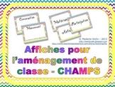Affiches pour la gestion de classe CHAMPS