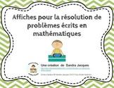 Affiches pour la résolution de problèmes écrits en mathématiques