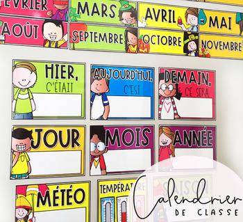 Calendrier Pour La Classe.Calendrier De Classe Pour La Routine Du Matin Francais